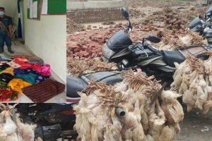 भारतबाट अवैध रुपमा ल्याउँदै गरेको २ लाख ७५ हजारको अवैध कपडा र कुखुरा बरामद